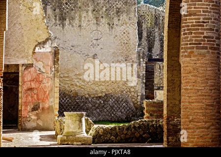 Ancient Villa Herculaneum Campania Italy - Stock Image
