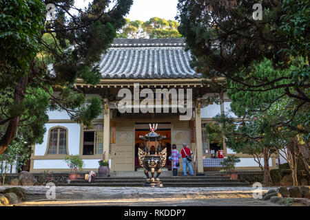Puji Temple, a temple of the Shingon Buddhist sect in Beitou Distirict in northern Taipei, Taiwan, founded in 19005, during the Japanese era. - Stock Image