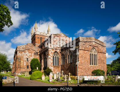 UK, England, Devon, Crediton, Parish Church of the Holy Cross and the Mother of Him who Hung Thereon - Stock Image