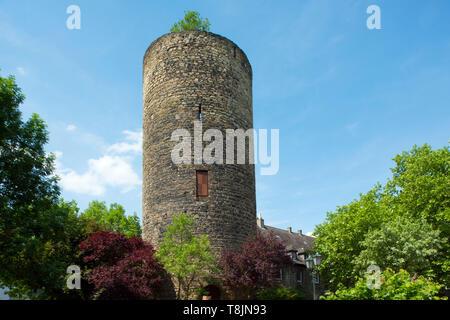 Deutschland, Nordrhein-Westfalen, Wetter (Ruhr), Freiheit Wetter, Ruine des Bergfrieds der ehemaligen Burg Wetter - Stock Image