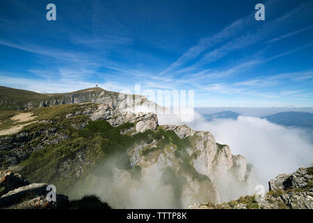 Scenic view of mountains against sky - Stock Image