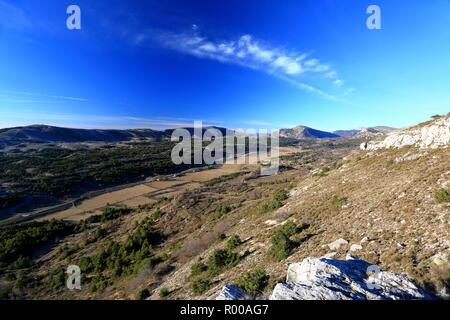 Caussols plain, Parc regional des Prealpes d'Azur, 06, Alpes-Maritimes, Cote d'azur, PACA, - Stock Image