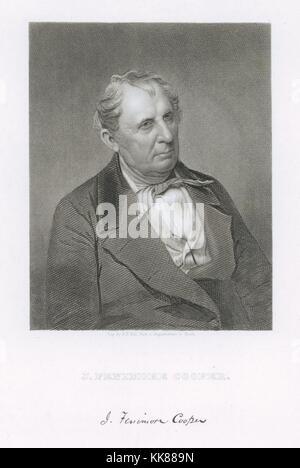 James Fenimore Cooper, ca 1850 by Mathew Brady - Stock Image