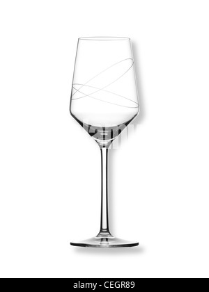 A still life shot of a wine glass on a white background (any colour background available on request) - Stock Image