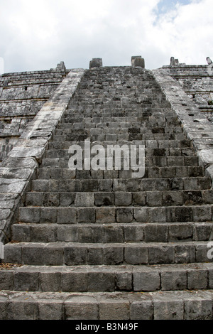 The Ossuary or Tomb of the High Priest Chichen Itza Archaeological Site Chichen Itza Yucatan Peninsula Mexico - Stock Image