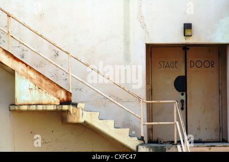 Stage Door, Ambassador Hotel Los Angeles - Stock Image