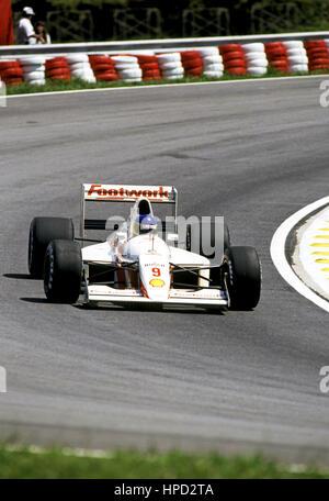 1991 Michele Alboreto Italian Footwork A11C Interlagos Brazilian GP dnf - Stock Image