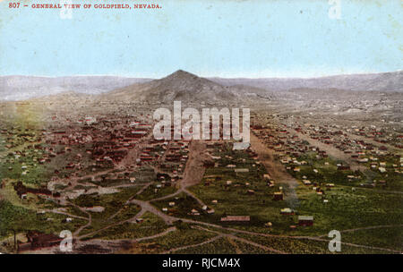General view of Goldfield, Nevada, USA. - Stock Image