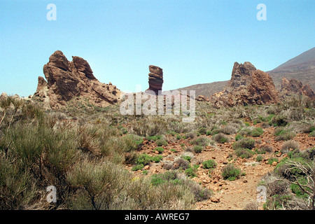 A View of the Lower Slopes of the Volcanic Mountain Mt Teide, Tenerife National Park, Canary Islands - Stock Image