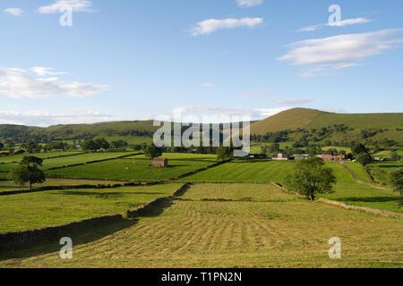 Farmland, Dovedale, Peak District England UK - Stock Image