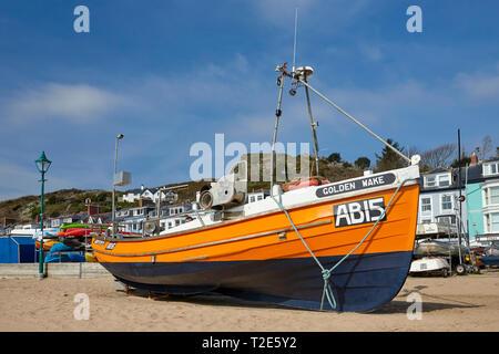 Fishing Boat Aberdovey Gwynedd Wales UK - Stock Image