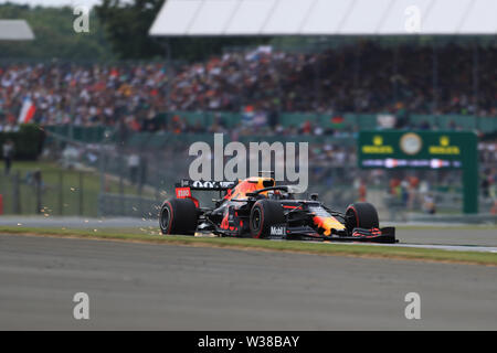 Silverstone Circuit. Northampton, UK. 13th July, 2019. FIA Formula 1 Grand Prix of Britain, Qualification Day; Aston Martin Red Bull Racing, Max Verstappen Credit: Action Plus Sports/Alamy Live News - Stock Image