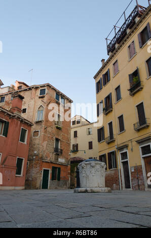 a Square in venice - Stock Image