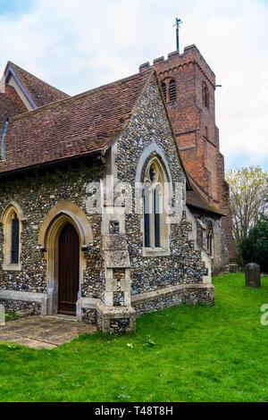 St. Andrew's parish church, 14th century, North Weald, Essex, England - Stock Image