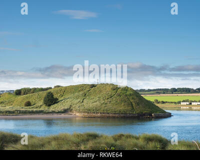 Church Hill at Alnmouth. - Stock Image