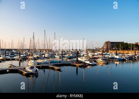 Bangor Marina County Down on a beautiful summer evening - Stock Image
