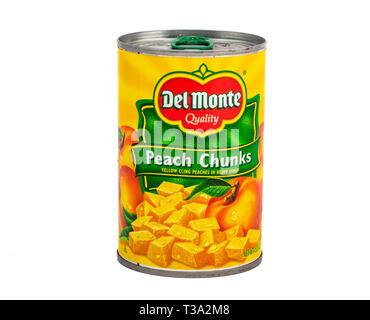 Del Monte Peach Chunks - Stock Image