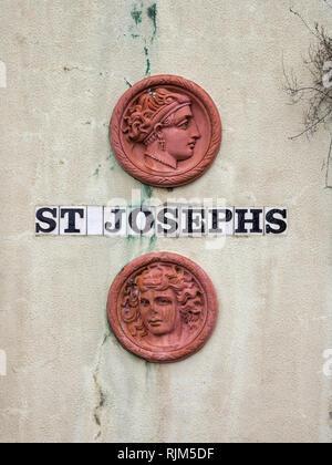 St Josephs street sign - Stock Image