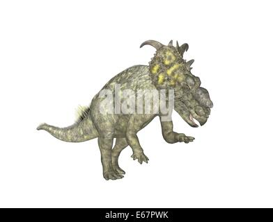 Dinosaurier Pachyrhinosaurus / dinosaur Pachyrhinosaurus - Stock Image