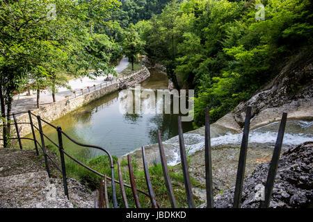 A large river. Mountain landscape - Stock Image