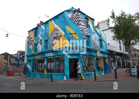 Ju*Ju, an edgy fashion shop in Brighton's North Laine district, United Kingdom - Stock Image