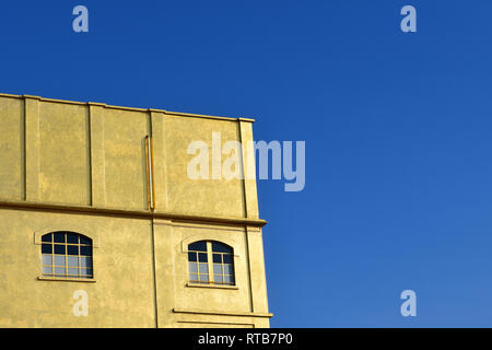 A detail of the so-called Haunted House in the Fondazione Prada cultural complex, Milan, Italy - Stock Image