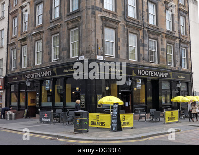Hootenanny Bar, Howard st, Glasgow, Scotland, UK - Stock Image
