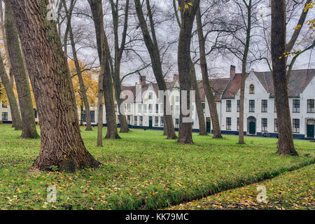 This is where beguines - emancipated women who lived pious and chaste lives without taking holy orders - once lived - Stock Image