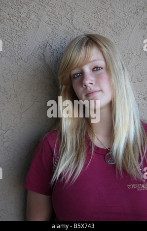 USA Stock image of a teenager with attitude - Stock Image
