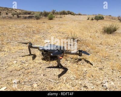 DJI Mavic Pro drone resting on ground ( camera drone ) - USA - Stock Image