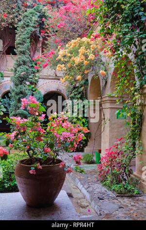 Old World Courtyard - Stock Image
