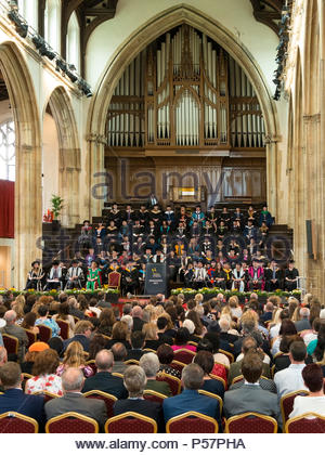 Norwich University of the Arts 2017 Graduation Day ceremony in St Andrews & Blackfriars Hall (The Halls), Norwich, England, UK - Stock Image