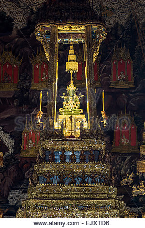 The Emerald Buddha in Wat Phra Kaew Temple - Bangkok (Thailand) - Stock Image