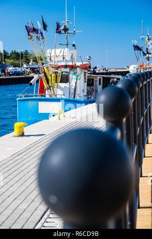 Fishing Port Of Ustka, Poland - Stock Image