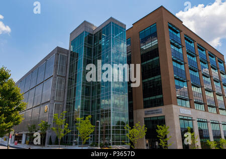 ASHEVILLE, NC, USA-10 JUNE 18:  Buncombe County Health & Human Services Building in downtown Asheville. - Stock Image