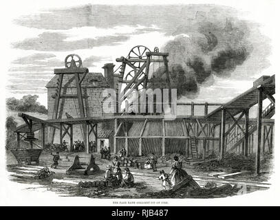 Fire at Page Bank Colliery, Durham. - Stock Image