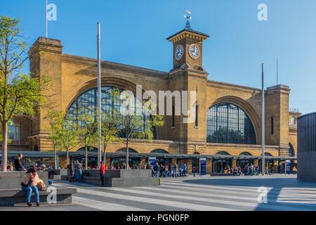 Kings Cross Station,Kings Cross Square,Euston Road,London,England - Stock Image