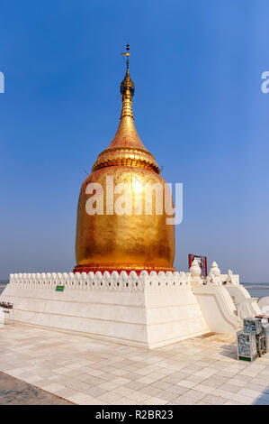 Bupaya Pagoda is a notable pagoda located in Bagan, Myanmar, at the bend on the right bank of the Ayeyarwady River. - Stock Image