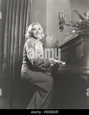 Piano recital - Stock Image