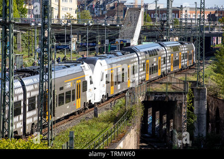 Regional Express Rhine-Ruhr, Rhine-Ruhr-Express, RRX, the new train on the track, the cars drive on existing regional routes, by 2025, the RRX, in 15 - Stock Image