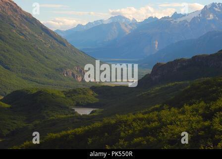 Trekking in Patagonia Laguna Torres, Argentina - Stock Image