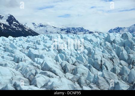 Glacier at Inner Lake George near Anchorage, Alaska - Stock Image