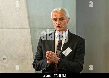 Joel Rode, General (Rtd.) and Advisor at Dassault Aviation, promotion event for the Rafale aircraft, AIR2030, Payerne, Switzerland - Stock Image