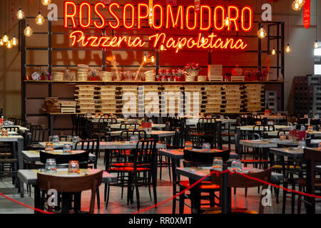 italian Pizzeria Napoletana Rossopomodoro - Stock Image