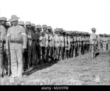 Philippine-American War, Buffalo Soldiers, 1902 - Stock Image