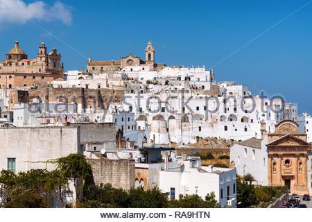 Italy, Apulia, Itria valley, Ostuni (called White town) - Stock Image