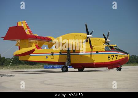 Canadair CL-415 877 water bomber Croatian Air Force - Stock Image