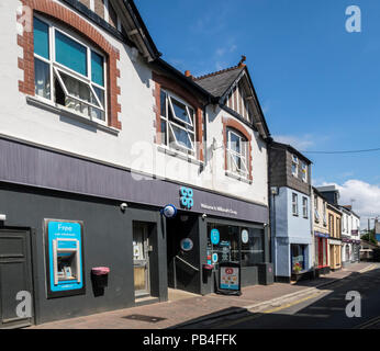Co-op local shop on West Street, Millbrook, Cornwall - Stock Image