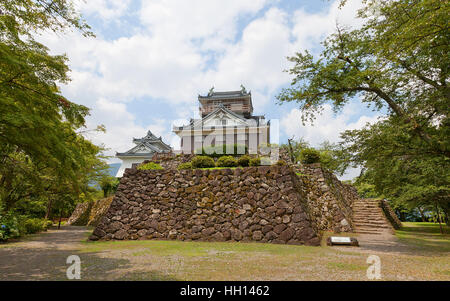 Reconstructed main keep (donjon) of Echizen Ohno castle. Castle was founded in 1576 by Kanamori Nagachika, dismantled - Stock Image