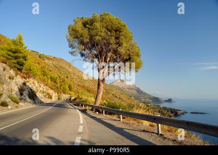 italy, basilicata, maratea, coast road - Stock Image